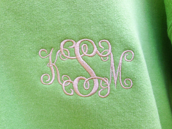 Monogram Sweatshirt, monogrammed fleece, crewneck sweatshirt,