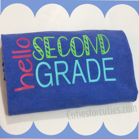Back to School Shirt-First Day of School Shirt-Grade Level Shirt