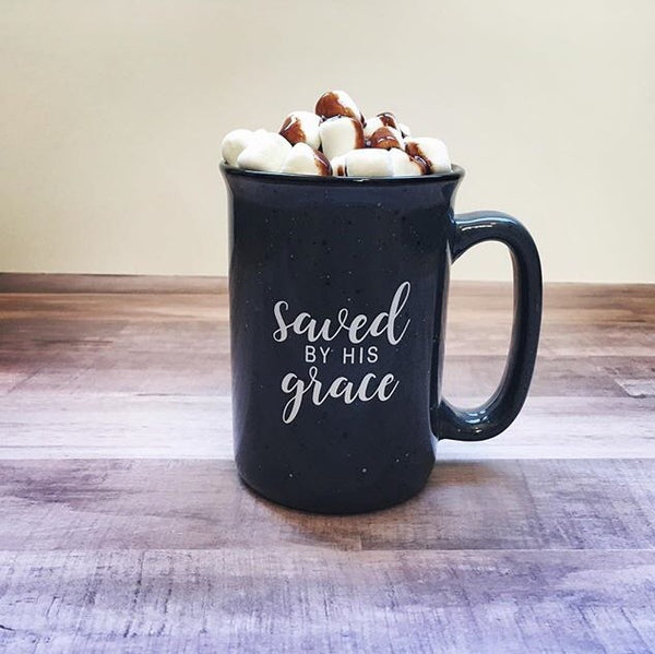 Holiday mugs-Merry and Bright-Saved by Grace