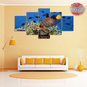 Royal Angelfish 5 Piece Canvas