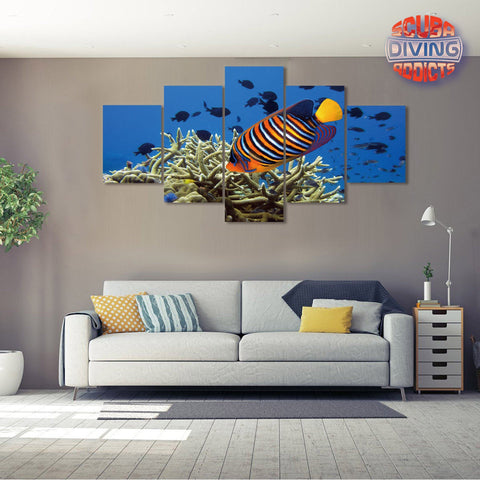 Image of Royal Angelfish 5 Piece Canvas