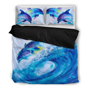 Dolphin Duvet Bed Set and Pillow Covers