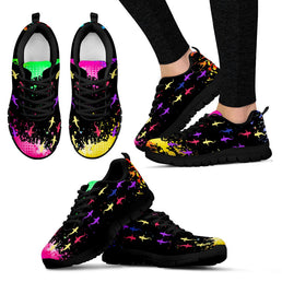 Colourful Sharks Women's Sneakers