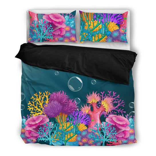 Coral Bed Set - Duvet and Pillow Covers
