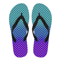 Mermaid Scales Flip Flops