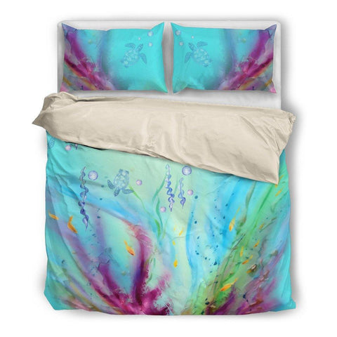 Image of Turtles Bed Set - Duvet and Pillow Covers