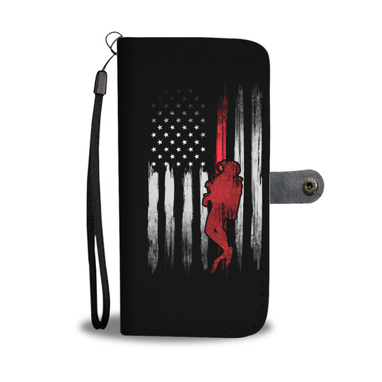 USA Scuba Flag Phone Wallet Case