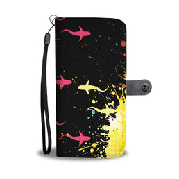 Colourful Sharks Phone Wallet Case