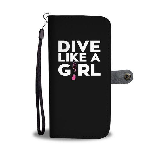 Dive Like A Girl Phone Wallet Case