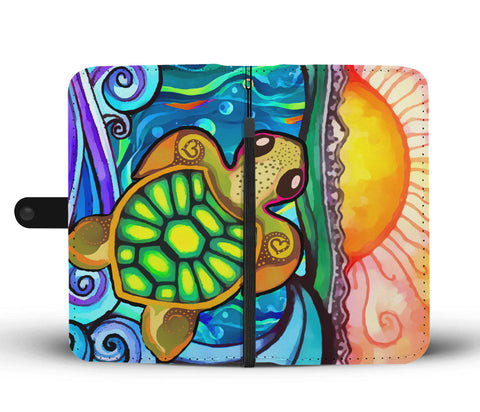 Image of Turtle Paradise Phone Wallet Case