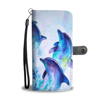 Dolphins Phone Wallet Case