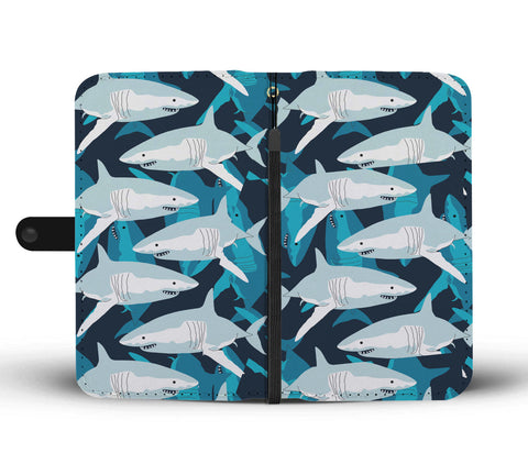 Great White Shark Phone Wallet Case