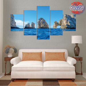 The Arch Point at Cabo San Lucas 5 Piece Canvas