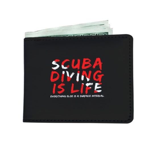 Scuba Diving Is Life Men's Wallet