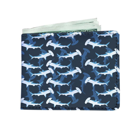 Blue Hammerhead Shark Men's Wallet