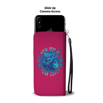 How Deep Is Your Love Fuschia Phone Wallet Cases