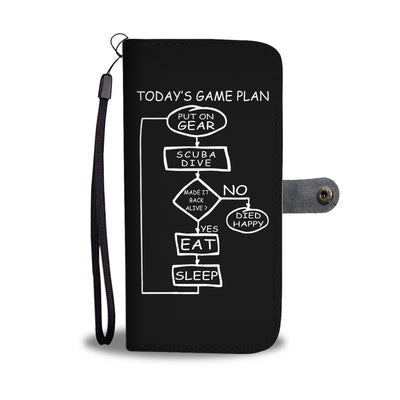 Today's Game Plan - Scuba Phone Wallet Case