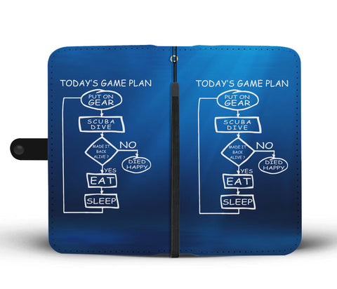 Image of Today's Game Plan - Scuba Phone Wallet Case