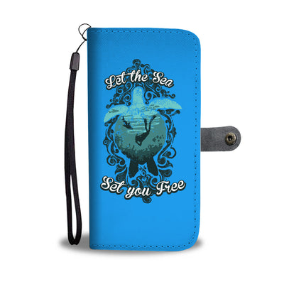 Let The Sea Set You Free Blue Phone Wallet Case