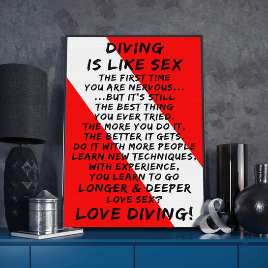 Diving Is Like - Poster