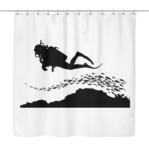 Scuba Diver Shower Curtain