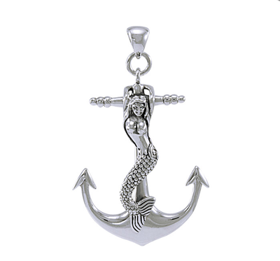 Mermaid & Anchor Sterling Silver Necklace