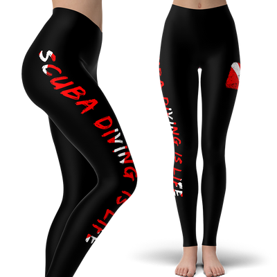 Scuba Diving Is Life Leggings (Warehouse)