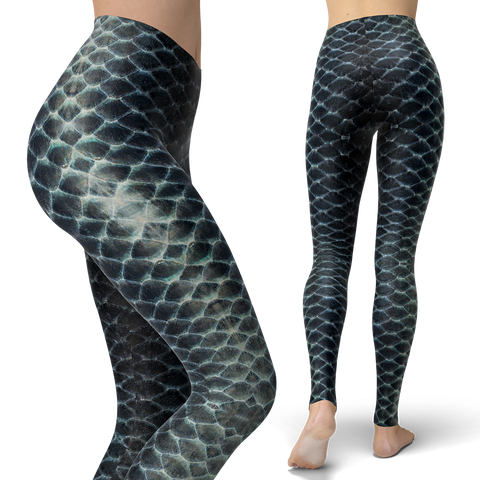 Black Scales Leggings