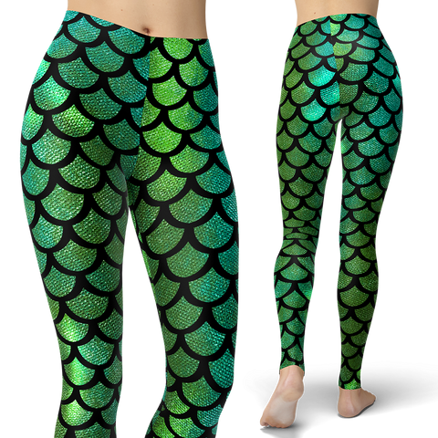 Mermaid Tail Green Leggings