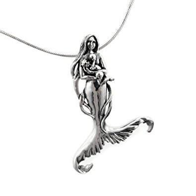 Seer's Child Mermaid Sterling Silver Necklace