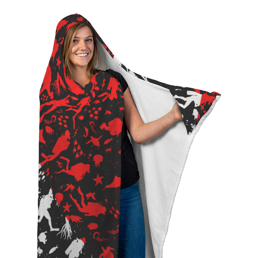 Dive Flag Hooded Blanket
