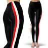 Scuba Diving Addicts Stripe Black Leggings