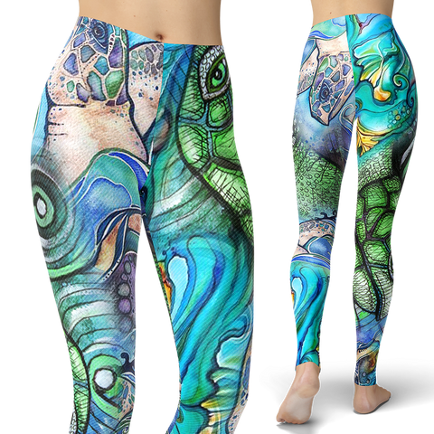 Turtle Collage Leggings