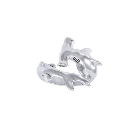 Image of Hammerhead Shark Sterling Silver Ring