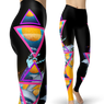 Abstract Dolphins Leggings