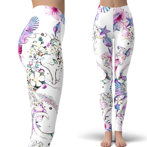 Seahorse Collage Leggings