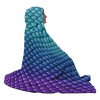 Mermaid Scales Hooded Blanket