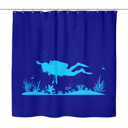 Bottom Of The Ocean Shower Curtain - scubadivingaddicts