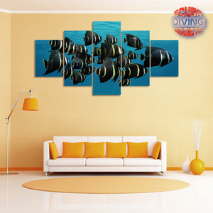 French Angelfish 5 Piece Canvas
