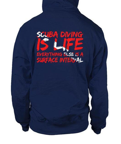Image of Scuba Diving Is Life Zip Hoodies
