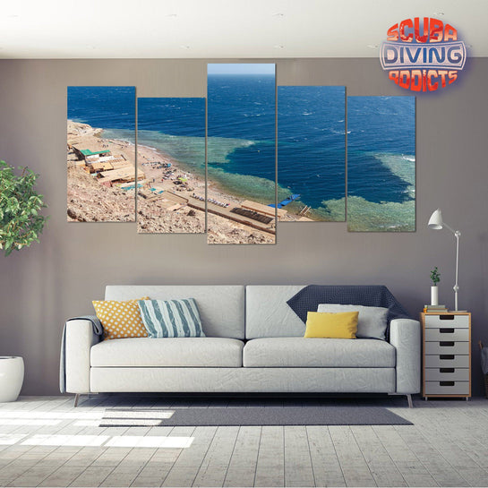 Blue Hole - Dahab 5 Piece Canvas