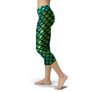Mermaid Tail Green Capris