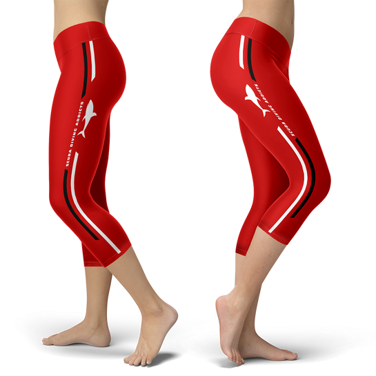 Scuba Diving Addict Red Capris
