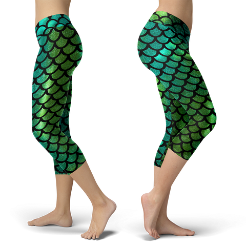 Image of Mermaid Tail Green Capris