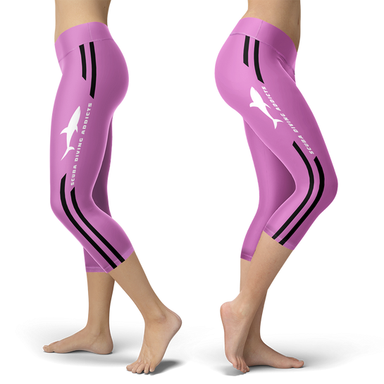 Scuba Diving Addicts Pink Capris