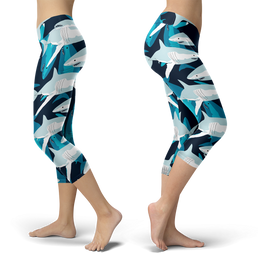 Great White Sharks Capris