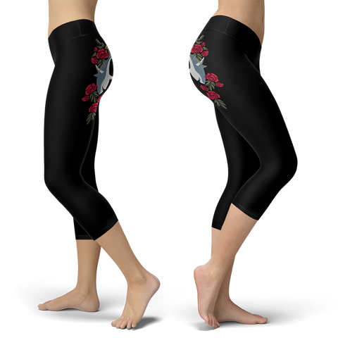 Sharks and Roses Capris