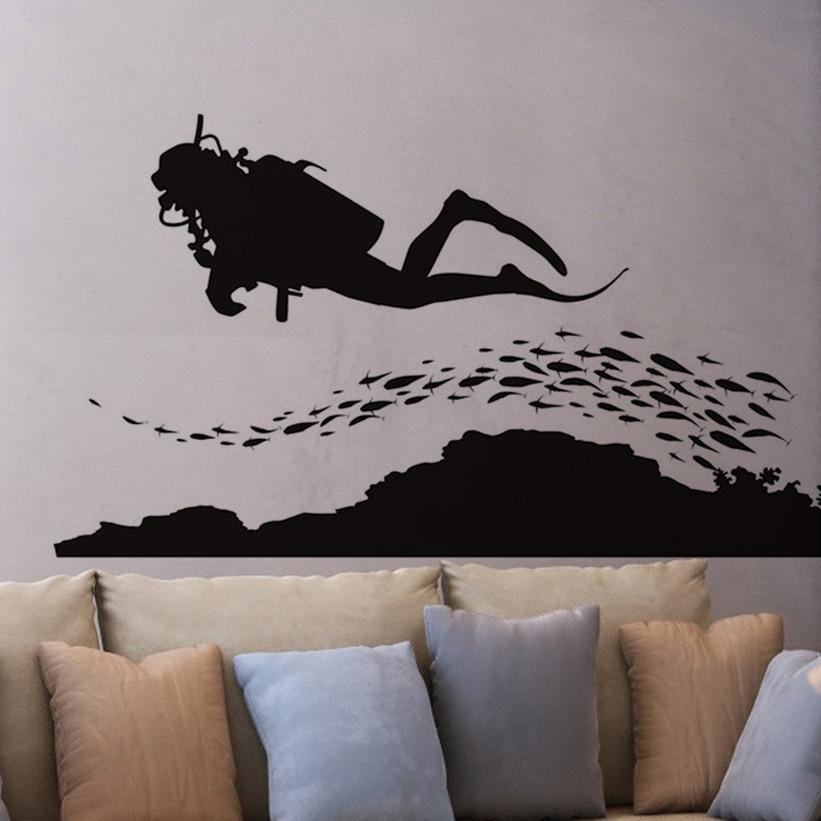 Scuba love decal scubadivingaddicts for Diving and fishing mural