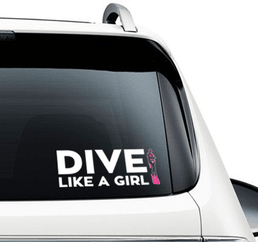 Dive Like A Girl - Car Sticker - scubadivingaddicts