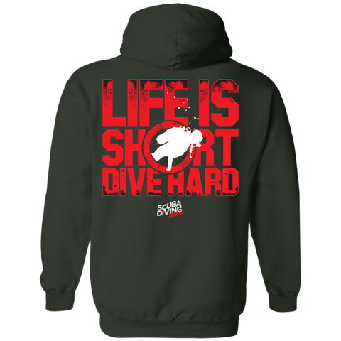 Image of Life Is Short, Dive Hard Hoodies